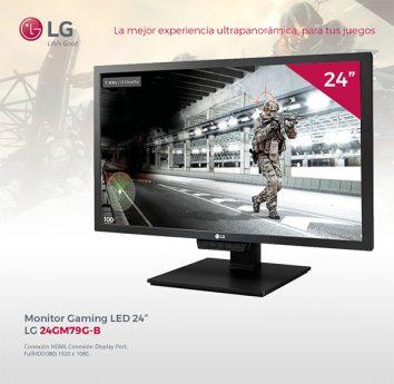 "MONITOR GAMING 24"" LG 24GM79G-B FHD HDMI-DP"