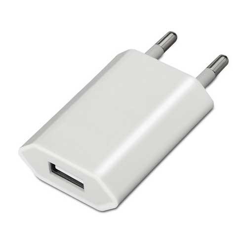 Mini cargador USB, 5V/1A aisens