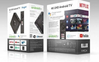 SMART TV ENGEL TV BOX 4K CHROMECAST+GOOGLE ASISTAN