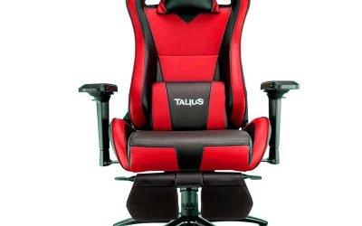 Silla gaming roja y negra Caiman Talius